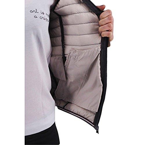 Plain 10 UK Long Colmar Down Grey Jacket Sleeve Women's wqEF46