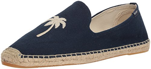 Soludos Men's Palm Tree Smoking Slipper, Midnight Blue, 10 Regular (Palm Tree Slipper)