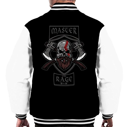 Of Rage Men's Black Master white Jacket Varsity War The Kratos God Ip5BUq