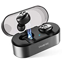 Wireless Earbuds, ENACFIRE E18 Latest Bluetooth 5.0 True Wireless Bluetooth Earbuds 15H Playtime 3D Stereo Sound for Gym Sport Wireless Headphones, Built-in Microphone for iOS and AndroidDevice