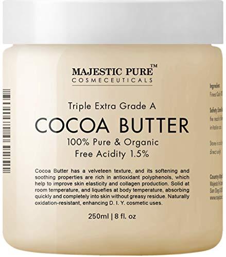 Majestic Pure Cocoa Butter, Organic, Raw, Unrefined Premium