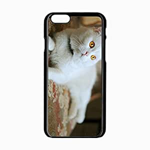 iPhone 6 Black Hardshell Case 4.7inch lying white Desin Images Protector Back Cover