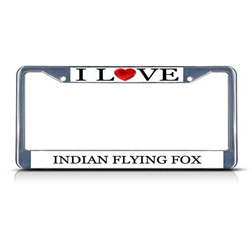 Flying Fox Chrome Metal License Plate Frame Tag Border ()