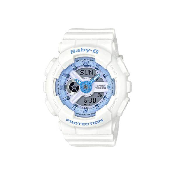 41E5Fli7IUL. SS600  - Casio Women's Baby G BA110BE-7A White Rubber Quartz Sport Watch