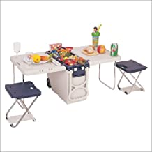 Travelers Club TCL-44037-13 Multi-Function Rolling Cooler With Table And 2 Chairs - Blue