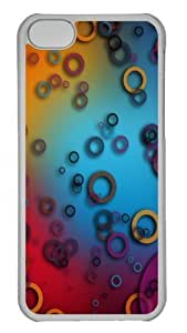TYH - Colorful Rings Custom iPhone 5C Case Cover Polycarbonate Transparent ending phone case