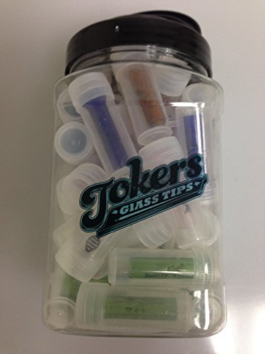 DNA Tokers Glass Colored Tips Whole Jar of 40 with Free I'm Baked Bro & Doob Tubes Sticker