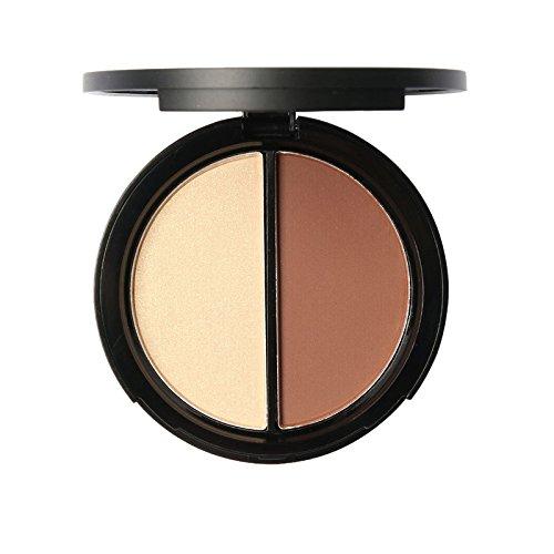 Luxsea 2 Colors Bronzer & Highlighter Contour Concealer Poweder Palette Makeup Set -  ZSSWJQ419037364A01