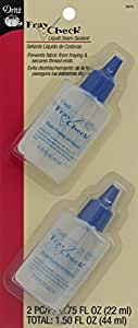 Dritz 1674 Fray Check Liquid Seam Sealant, 0.75-Ounce, 2/Pack