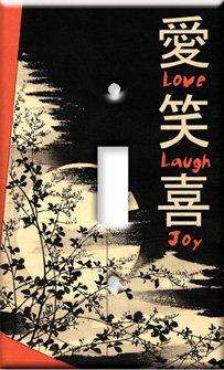Art Plates - Love, Laugh, Joy Switch Plate - Single Rocker by Art Plates (Image #2)