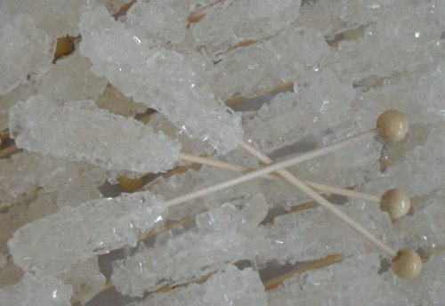 - 2 Pack Dryden & Palmer White Sugar Crystals Rock Candy Swizzle Sticks 2 - 72 Count Boxes Crystalized Rock Candy Sticks - Shipped in Box 144 Total