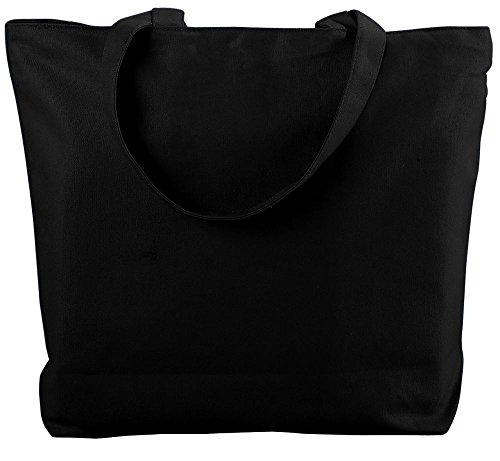 Augusta Canvas Tote - Augusta Sportswear CANVAS ZIPPER TOTE OS Black