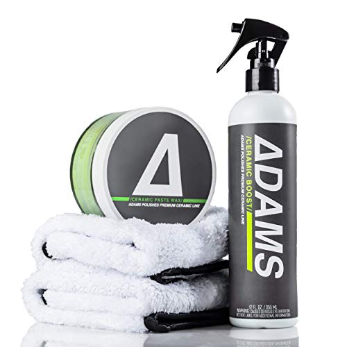 Adam's Ceramic Paste Wax - Ceramic SiO2 Infused Wax - The Most Technologically Advanced Paste Wax in Car Care (Complete Kit)
