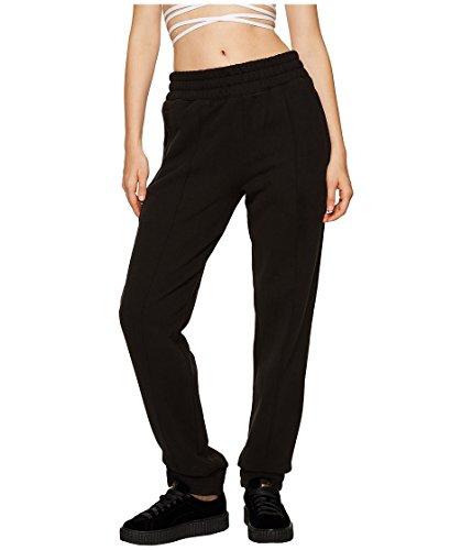 Puma Women's Fenty Fleece Pants w/ Velvet Taping Black Pants