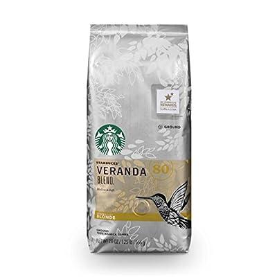 Starbucks Veranda Blend Light Blonde Roast Ground Coffee, 20-Ounce Bag