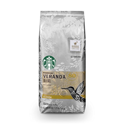 Starbucks Veranda Blend Light Blonde Roast Ground Coffee, 20-Ounce Bag
