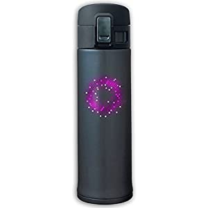 Sports Water Bottle 304 Stainless Steel Vacuum Insulated Leak Proof Purple Light Circle Camping Travel Thin Thermoses 500ML