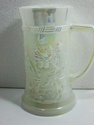 Fire King Iridescent German Style Stein Mug Glass Cup -