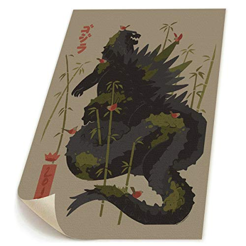 Little Monster Kaiju Godzilla Bamboo HD Frameless Printing On Canvas Wall Decor Abstract Paintings Art for Kids Bedroom -