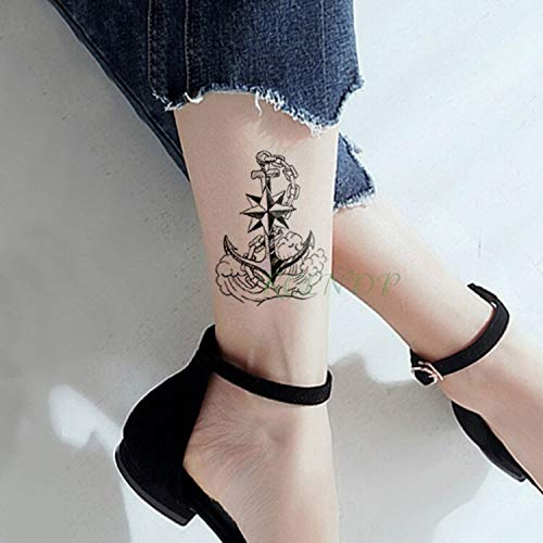 Yyoutop Impermeable e Tattoo Sticker Marina Pirata Ancla Tatto ...