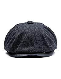 KeepSa Winter Thicken Earflaps Newsboy Caps Men Warm Plus Velvet Octagonal Hat