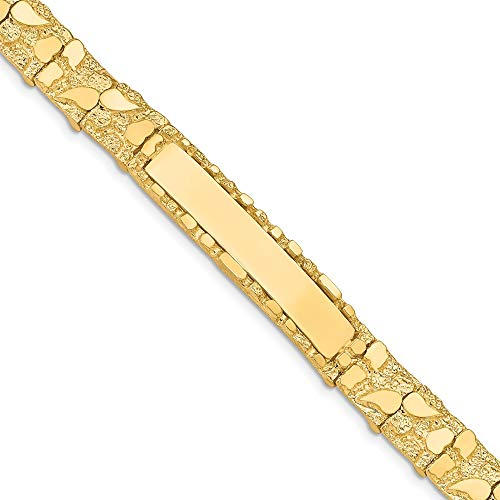 - Link, Other ID Bracelet Bracelet Polished Solid 10 mm 8 in 14K Yellow Gold 10.0mm Nugget ID Bracelet
