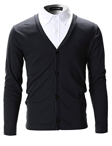 FLATSEVEN Mens Slim Fit Stylish Button up Cardigan (C100)...