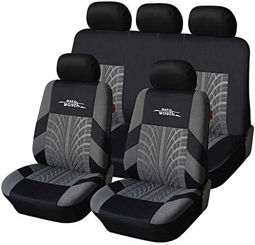 grey full set black Car seat covers fit Kia Rio