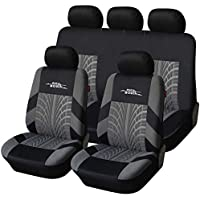 $36 » AUTOYOUTH Car Seat Covers Universal Fit Full Set Car Seat Protectors Tire Tracks Car Seat…