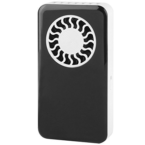 WoneNice Battery Operated Personal Pocket Fan (Rechargeable Lithium Battery) (Black) Battery Operated Pocket
