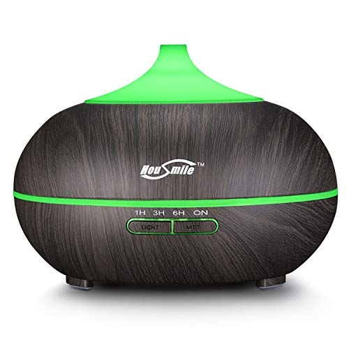 Housmile Cool Mist Humidifier Ultrasonic Aroma Essential Oil Diffuser with 7 Color Lights for Home and Office.