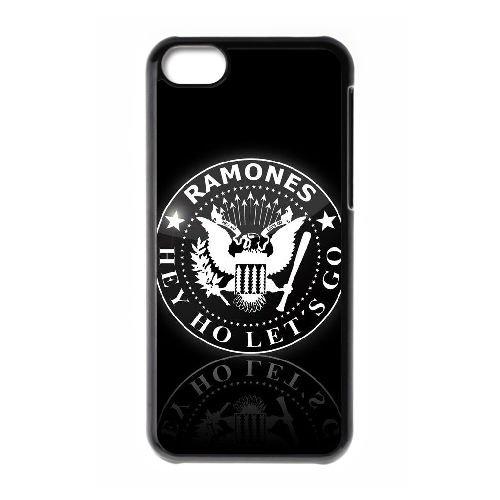 U6E72 den Ramones schwarzes Band Punklogo Musik hd U6B5OM iPhone 5c Handy-Fall Hülle schwarz DG1UFI8PX decken