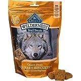Blue Buffalo Wilderness Trail Treats Grain-Free Turkey Dog Biscuits, 10 oz.(2Pack)