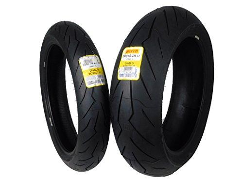 Pirelli Diablo Rosso III Front & Rear Street Sport Motorcycle Tires Rosso Three Rosso 3 (120/70ZR17 190/55ZR17)