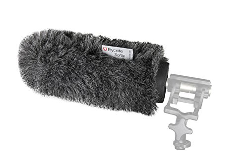 Rycote Softie, Long Hair Wind Diffusion, 18cm Long with Medium Hole, Front Only with MICROFIBER CLOTH (Softie Windscreen)