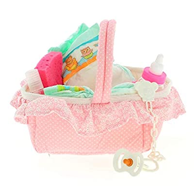 Antonio Juan Dolls – Pink Dummy, Sponge, Bottle, Nappy, Shampoo and Teether – (143R): Toys & Games