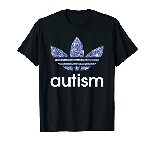 Adida Autism Awareness Blue Graphic T-Shirts For Mens Boys -