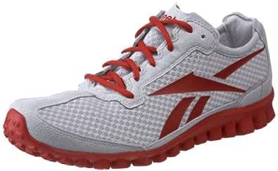 Reebok Men's Realflex Running Shoe,Steel/Excellent Red Mesh,15 M US