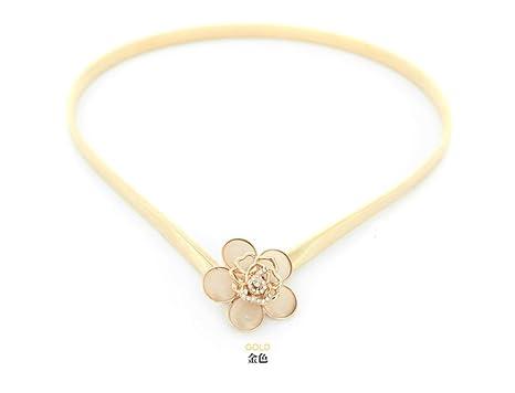 YXLMZ Cinturón de Mujer Piel Cinturón Ancho Elástico Cristal Decoración  Nupcial Boda Dorado 60cm-100cm adb0fa845fc8