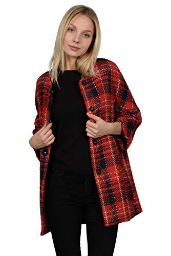 M Couleur Paletot Rouge Manteau Taille w4UfqAI