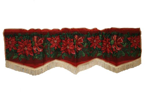 Decorative Christmas Poinsettias Design Tapestry 60