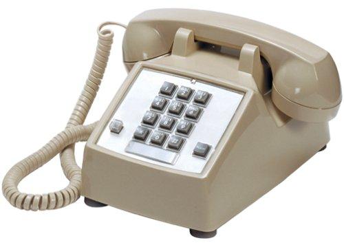 Cortelco Kellogg 2500 Tel-Flash/M-W Desk Mount Phone with Cords Ash&Vol - Phone Desk Offshore