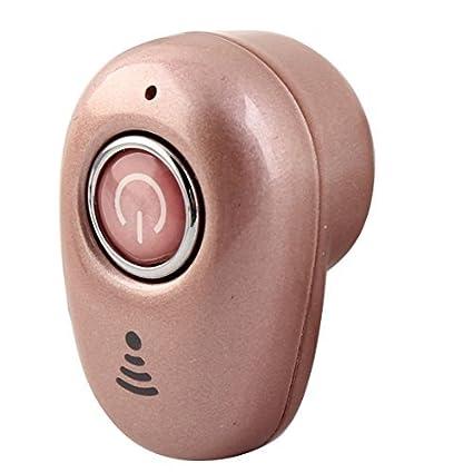 eDealMax Mini sigilo inalámbrica Bluetooth 4.1 auricular estéreo del auricular del rosa rosa