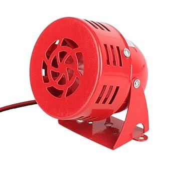 AC12V 120dB Rojo Alta Potencia Zumbador Sirena de Alarma ...