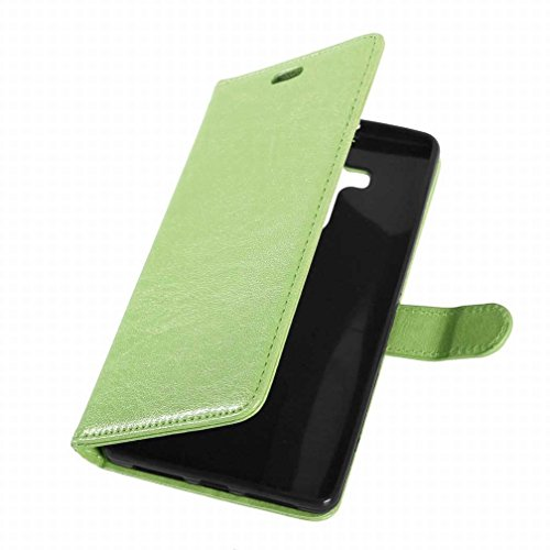 Yiizy Huawei Mate 8 Funda, Bastidor Diseño Solapa Flip Billetera Carcasa Tapa Estuches Premium PU Cuero Cover Cáscara Bumper Protector Slim Piel Shell Case Stand Ranura para Tarjetas Estilo (Verde)