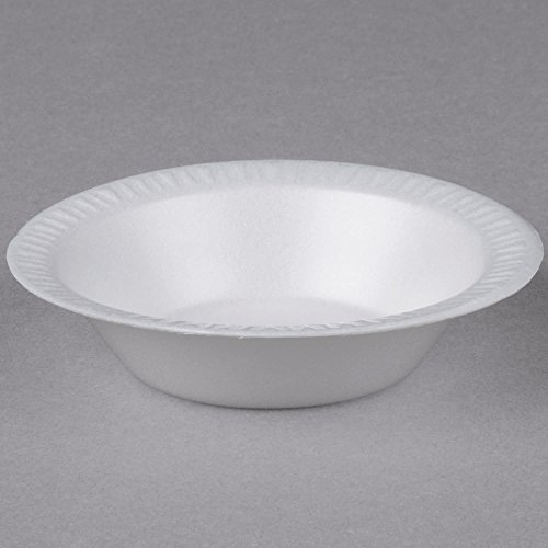TableTop King 5BWWQ Quiet Classic 5-6 oz. White Laminated Round Foam Bowl - ()