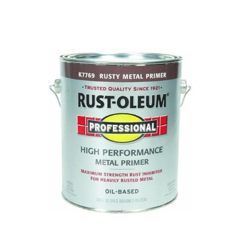 RUST-OLEUM K7769-402 Professional Gallon Rusty Metal Enamel Primer, 1 gal, Reds (Best Metal Primer For Rusty Metal)