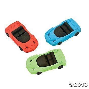 Fun Express Race Car Eraser - 12 Pieces - Erasers 12 Piece