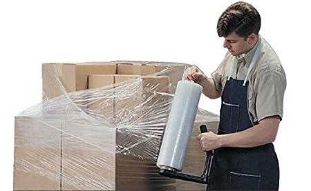 Claro plástico Film elástico, fuerza Industrial con movimiento y papel de embalaje, 2 Pack 18