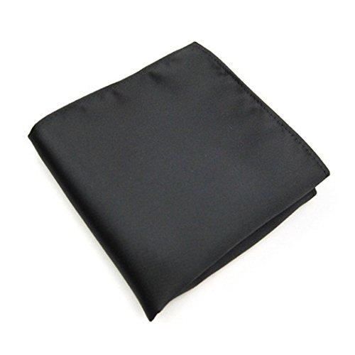 Men's formal pocket square handkerchief (Black)